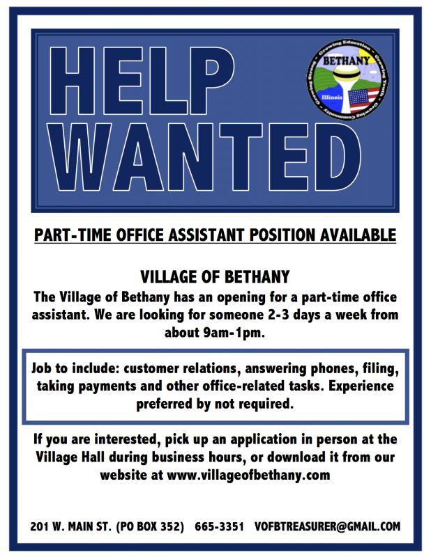 Application Process | Village of Bethany Illinois